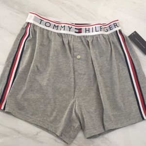 Tommy Hilfiger - Gray Boxers w/ Racing Stripes NWT